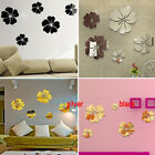 3d Mirror Style Flower Decal Wall Sticker Diy Removable Art Mural Home Decor