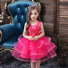 Child Flower Girls Pricess Party Tulle Tutu Dress Wedding Bridesmaid Party Gown