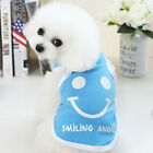 Smile Happy Small Dog Clothes Pet Puppy Cute Vest Dog Cat Apparel BEST GIFTS