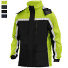Mens Reusable Insulated Safety Bomber Jacket Water Resistant Reflective Raincoat
