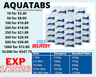 Clean Water Purification Emergency Tablets Camping-Aquatabs Survival! Exp 1/2026