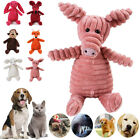 UK Cute Pet Dog Chew Toy Squeaker Squeaky Soft Plush Play Sound Puppy Teeth Toys