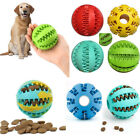 Pet Dog Puppy Rubber Ball Toy Gift Teething Durable Treat Clean Chew Dispenser