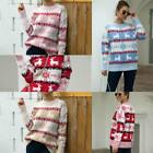 Warm Knitwear Christmas Pullover Knitted Jumper Loose Winter Knit Shirt Tops