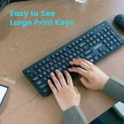 Standard Keyboard and Mouse Combo-Set with Big Print Letter US English Layout