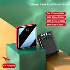 20000mAh Mini Power Bank With Micro USB TYPE C  lightning Cable Portable