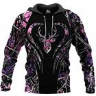 Cool Deer Hunting Camo 3D ALL OVER PRINTED HOODIE S-3XL