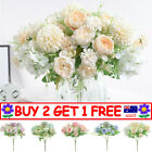 Silk Peony Artificial Fake Flowers Bunch Bouquet Home Wedding Party Decor Tt Au