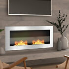 Glass Steel Bio Ethanol Fireplace Biofire 2/3 Fire Burner Wall Mount/Inset Stove