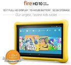 "Amazon Fire HD 10 Kids Edition Tablet, 10.1"" 1080p Full HD - 32GB, Yellow - New!"