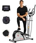 ANCHEER Magnetic Elliptical Machine Cross Trainer with 3D Virtual APP Control