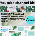 Youtube channel art: banner, thumbnails, outro, end screen, aesthetic theme.