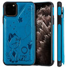 For iPhone 11 /12 Pro Max 12 mini Leather Billfold Shockproof Cat Bee Case Cover