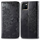 For iPhone 11 12Pro / 11 12 Pro Max /18 mini Leather Flip Datura Pattern Cover