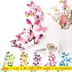 3d Decals Butterfly Wall Stickers Pvc Mural Wall Art Home Party Decor 12pcs Uk