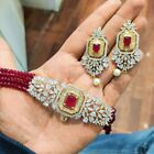 New Bollywood Indian Bridal Partywear Zircon Choker Necklace Fashion Jewelry Set