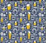Unit OF 5 And 10 Yard Beer Ale Microbrewery Digital Printed Fabric By The Yard