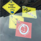 Baby On Board SAFETY Car Window Suction Cup Yellow REFLECTIVE WarningSign12CJ M