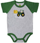 NEW John Deere Green Gray This is How I Roll One Piece Bodysuit 3/6, 6/9, 9/12 M