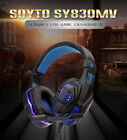 Gaming Headset Mic LED 3.5mm Headphones Stereo Surround PS5 PS4 Xbox ONE iPad PC
