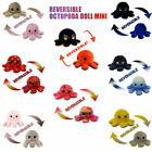 Reversible Emotion Octopus Plush Stuffed Toy Soft Animal Home Accessories Gifts