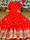 Women Anarkali Kurta Kurti Bollywood Style Red Gown Partywear Long Gown Stitched