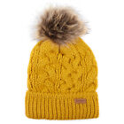Barbour Womens Penshaw Beanie Ochre - JANUARY SALE