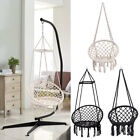 Hammock Swing Chair Hanging Rope Seat Net Chair Garden Macrame Swing Stand Set