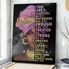 You Are Beautiful Strong Woman Poster, African Woman Wall Art