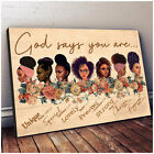 God Says You Are Black Queen Poster, African American Women Poster, Gift for Her