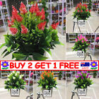 Artificial Potted Flowers Fake False Plants Outdoor Garden Home In A Pot Decor T