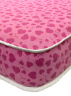 LUXURY BUDGET PINK HEART MATTRESS. 3FT. SINGLE . 2ft6. shorty. MULTIPLE SIZES!!!