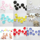 12pcs Creative Acrylic Room Decal 3d Flowers Wall Stickers Home Decor