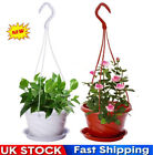 Plastic Hanging Planter Flower Pot Chain Basket Succulent Plants Pot Home Decor