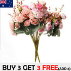 21 Heads Rose Bunch Artificial Flower Home Decor Bridal Bouquet Floral Tt