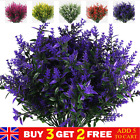 1pc Artificial Flowers Plastic Fake Outdoor Garden Plant Uv Resistant Home Decor