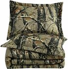 Chezmoi Collection Salem 3-Piece Forest Woods Comforter Set - Nature Camo Tree L