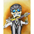 Внешний вид - Lost Cause by Dave Sanchez Tattoo Artist Mexican Skeleton Man Canvas Art Print