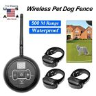 Waterproof Electric Wireless Fence Pet Shock Collars System Containment 1/2/3Dog