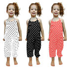 Toddler Kids Baby Girls Summer Sleeveless Ruffles Romper Jumpsuit Clothes Casual