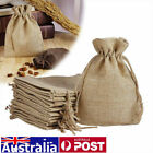 Bags Natural Linen Pouch Drawstring Burlap Jute Jewellery Party Gift Wedding Bag