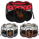 Large New Fabric Foldable Pet Exercise Kennel Soft Dog Run Puppy Playpen Cage UK