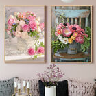 Nordic Rose Flower Vase Painting Canvas Poster Wall Art Print Modern Home Decor