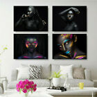 African Black Gold Sexy Woman Painting Canvas Poster Picture Home Wall Art Decor