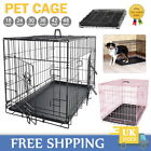 Folding Dog Cage Pop Up Pet Puppy Crate Carrier HomeTraining Kennel S M L XL XXL