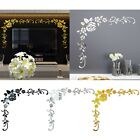 Flower 3d Mirror Wall Stickers Bathroom Removable Art Decal Home Decor Diy