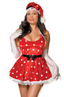 Holiday Pin-Up Christmas Costume, Dreamgirl 5196X, 5 Piece Plus Size 1X/2X 3X/4X