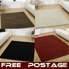 LARGE THICK SHAGGY BROWN BLACK RED IVORY RUG 1.6 x 2.3m