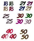 Anniversary Numbers, Ages - Confetti / Table Sprinkles
