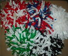 "NEW YOUTH POMS 6"" LENGTH 1,2,OR 3 COLOR MIX DOWL HANDLE"